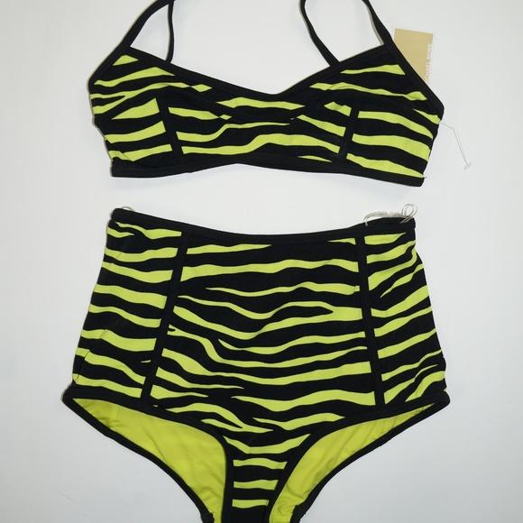 bde0ee164b94d Michael Kors Swim | Zebra Print High Waisted Bikini | Poshmark
